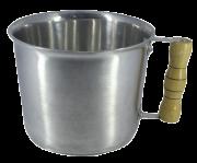Caneca Leiteira Fervedor Canecão Alumínio Polido 16 cm Diâmetro 2 Litro