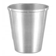 Copo De Aluminio Polido Resistente Merenda Escolar 600 ml