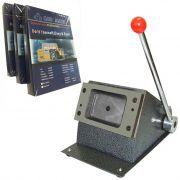 Cortador Para Cartão De Pvc Crachá 86x54mm + Jogo Pvc Laser