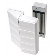 Fechadura Eletroímã AGL Branca para Portas Aço Madeira Vidro