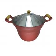 Fervedor Leiteira Inderramável Alumínio Vermelho 5 Litros