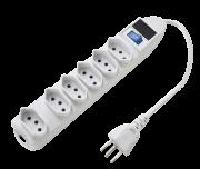 Filtro de Linha Régua 6 Tomadas Extensão Chave e LED - AGL