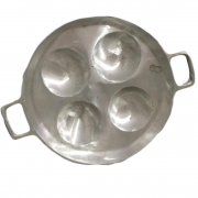 Frigideira 4 Ovos Redonda Alumínio Fundido