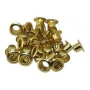 Ilhós Niquelado Ouro Dourado 4,8 x 4,6 mm 250 Unidades