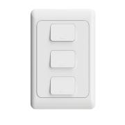 Interruptor Inteligente Três Teclas Wifi AGL Controle de Voz