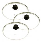 Jogo 3 Tampas de Vidro Avulsa Para Panelas 16, 22 e 28cm