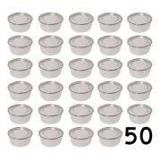 Jogo 50 Marmitas Redondas Alumínio Polido - 300 Ml Com Trava