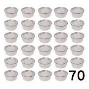 Jogo 70 Marmitas Redondas Alumínio Polido - 300 Ml Com Trava