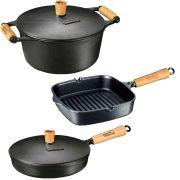 Jogo Caçarola 1,7L Cook Grill e Frigideira - Panela Mineira