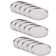 Jogo Com 15 Formas Assadeira De Pizza Redonda Aluminio 29 Cm