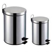 Kit 2 Lixeira Banheiro Aço Inox Cesto Removível 12 litros