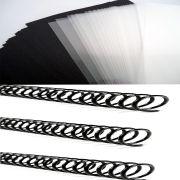 Kit Capas E Espirais Para Encadernação 14mm