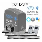 Kit Motor Portão Deslizante Inteligente Wifi Izzy 700kg AGL +  02 Controles + 03 metros De Cremalheira 127V