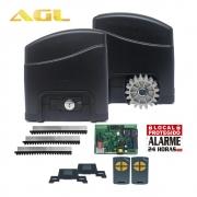 Kit Motor Portão Deslizante Trino Modelo Soft AGL 3,00 M + 02 controles 127V