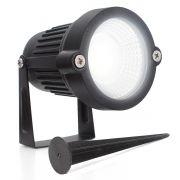 Lampada Luminaria LED Espeto jardim Spot 3W Luz Branco Frio
