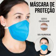 Mascara Cirúrgica Com ajuste no elastico Reutilizável Azul 10 Un
