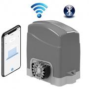 Kit Motor Portão Deslizante Inteligente Wifi Izzy 300kg AGL + 02 controles + 03 metros de cremalheira 127V