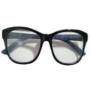 Óculos Lupa Para Leitura 2 Graus Preto e Azul Fosco