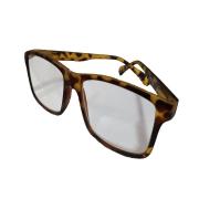 Óculos Lupa Para Leitura 3,5 Graus Marrom Mesclado