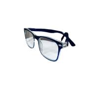 Óculos Lupa Para Leitura 3 Graus Transparente e Azul