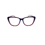Óculos Lupa Para Leitura 4,5 Graus Azul e Vinho