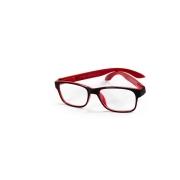 Óculos Lupa Para Leitura 4 Graus Preto e Vermelho