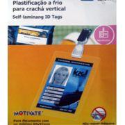 Pelicula Plastificação a Frio Cracha Vertical 60x92mm 10 Und
