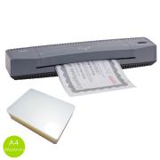 Plastificadora A4 E A3 Aurora + 100 Polaseal A4 - 0,07mm