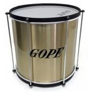 Repinique Gope Dourado Tambor Bateria Percussão 30cm x 12