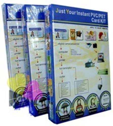 200 Placas De Pvc Imprimivel+300 Folhas Jato Tinta P/crachas