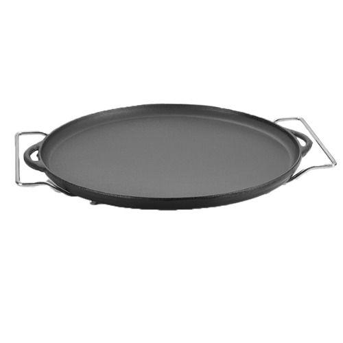 Forma De Pizza Ferro Fundido 30 Cm C/ Suporte Panela Mineira