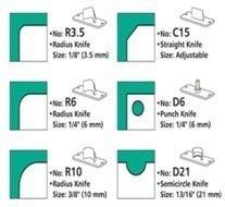 Faca Lâmina Raio 10mm R10 para Canteadeira Diamond 6 em 1