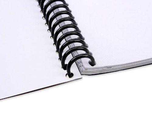 Espiral Preto Para Encadernação Preto 07mm Até 25 Folhas