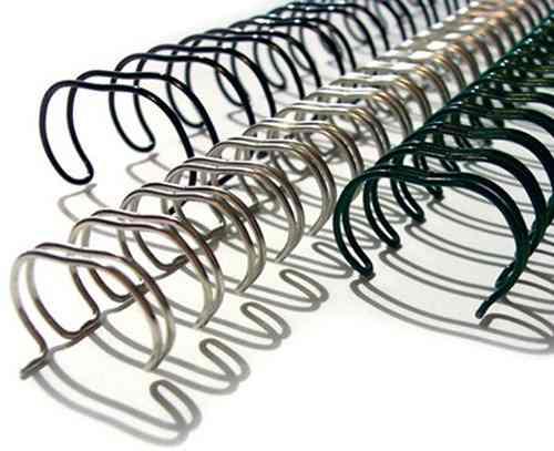 Espiral Wire-o Garra Duplo Anel 3x1 A4 1/4 20 Fls Para Encadernação