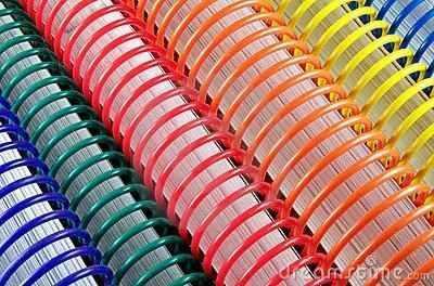 Espirais Para Encadernação Caderno A4 De Espiral Colorido 17mm 100folhas