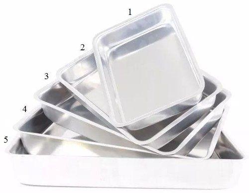Jogo Forma Assadeira Tabuleiro de Frango Alumínio Resistente 5 Peças