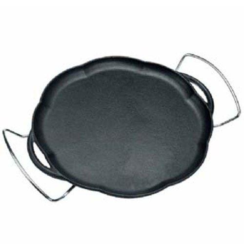 Chapa Petisco Ferro Com Suporte Redonda 24 Cm Panela Mineira