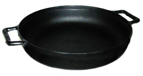 Frigideira Ferro Fundido Lisa C/ Alça Ferro - Panela Mineira