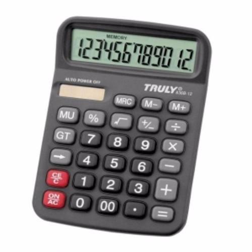 Calculadora De Mesa Trully 12 Dígitos Preta 836b-12