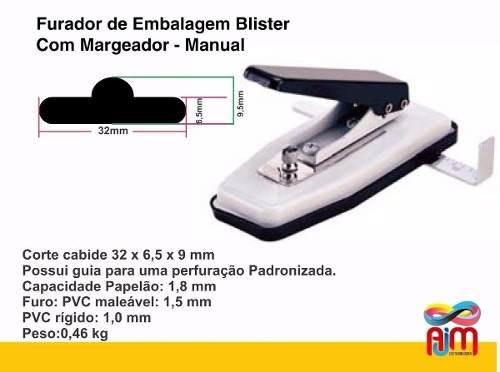 Furador De Embalagem Blister Com Margeador - Manual