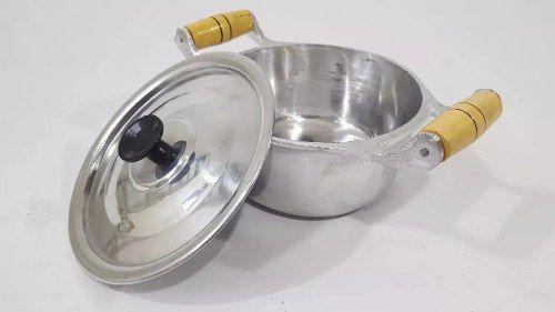 Jogo 5 Caçarola Alumínio Batido Polido Fundido Panela Minas