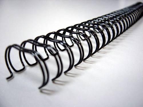 Espiral Wire-o Garra Duplo Anel 3x1 Carta 1/4 20 Fls Para Encadernação