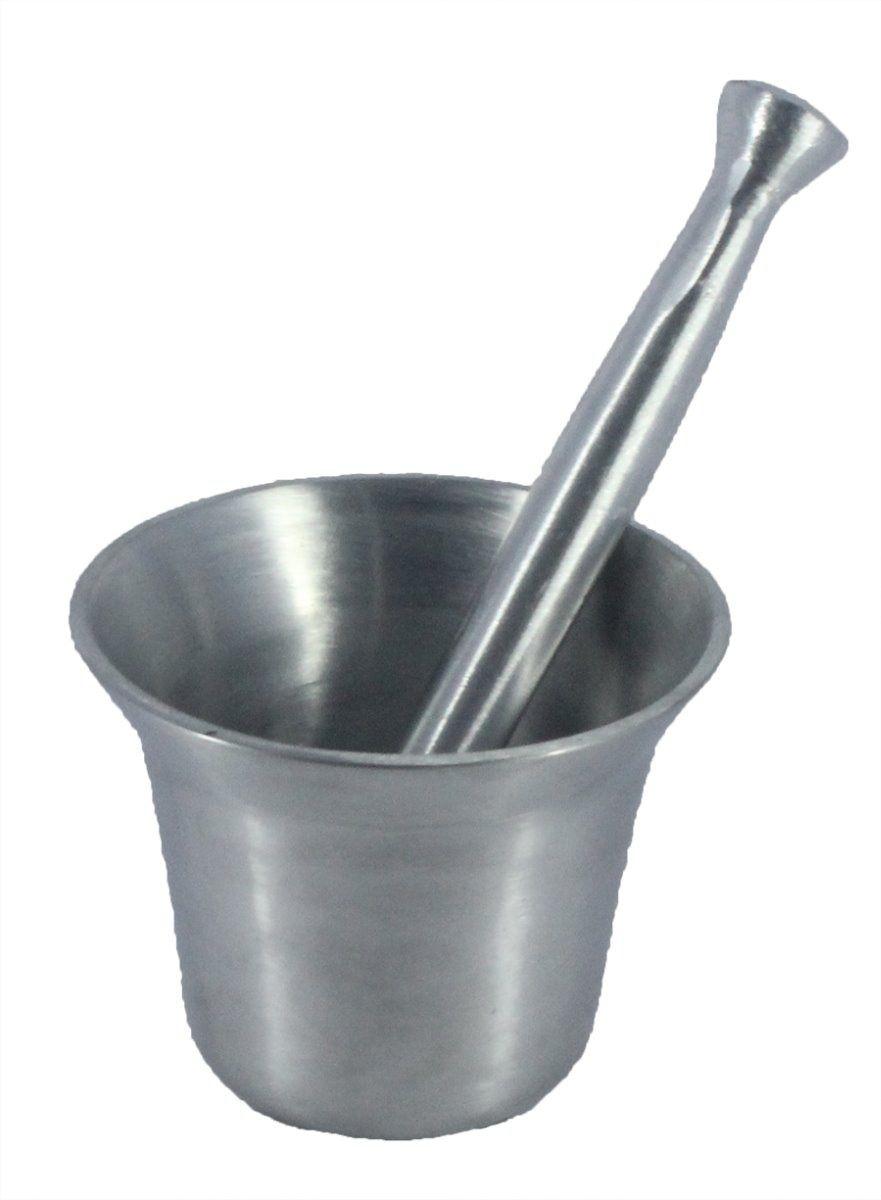 Almofariz De Alumínio Fundido Socador de alho 1 litro N°3