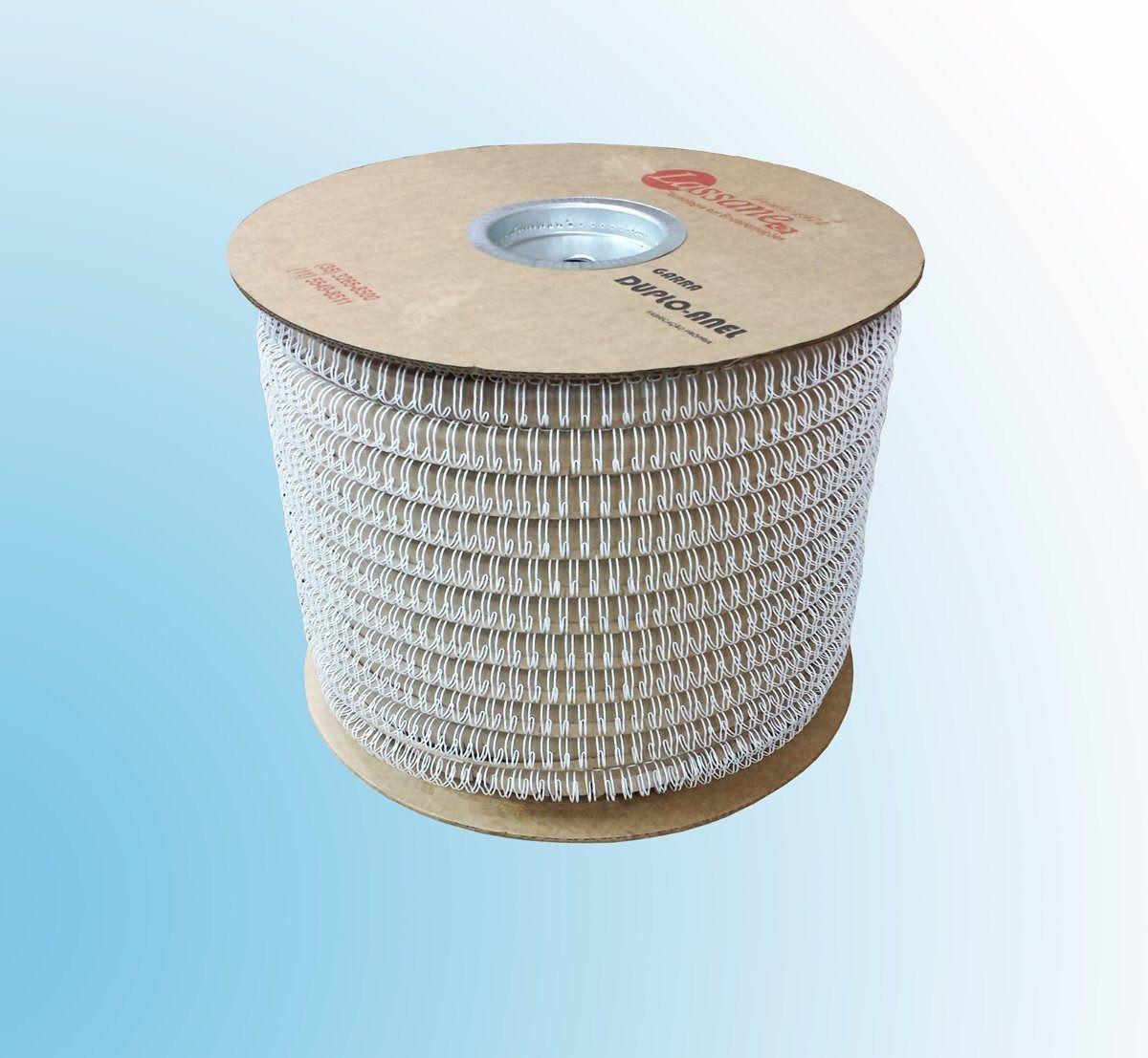 Bobina Espiral Garra Duplo Anel Wire-o 2x1 Diam 1'' 200 Fls