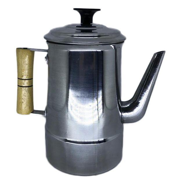 Bule para coar café de Alumínio polido 1,9 litros