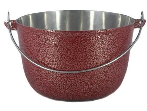 Caldeirão Aluminio Vermelho com Alça 3,5 litro 22 cm Diâmetro