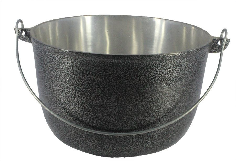 Caldeirão Aluminio Preto com Alça Vergalhão 3,1 litro 20 cm Diâmentro