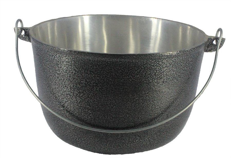 Caldeirão Aluminio Preto com Alça Vergalhão 5,1 litro 24 cm Diâmetro