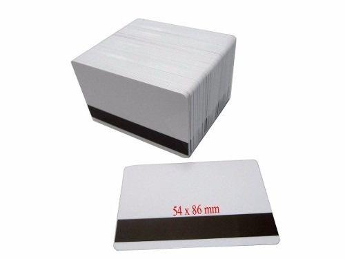 Cartão De Pvc Branco P/ Crachá 54 X 86mm Com Tarja 50 Unid