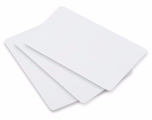 Cartão de PVC Branco Para Confecção de Cracha 54x86mm 0,76mm